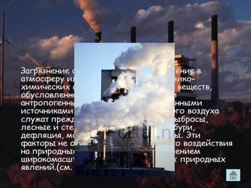 Загрязнение атмосферы - это